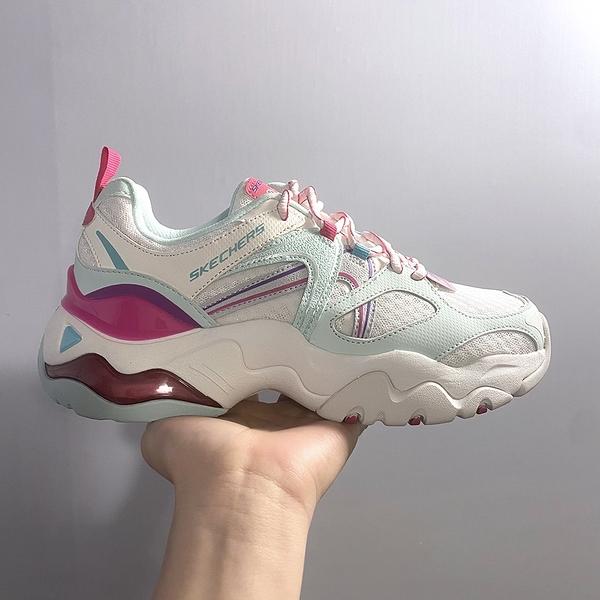 SKECHERS DLITES 3.0 AIR SHES VIVID 女款復古休閒鞋 厚底 老爹鞋 粉綠桃紅 149261WTQP
