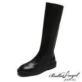 長靴 極簡風尚彈性拉鍊長筒靴(黑)*BalletAngel【18-H559bk】【現+預】