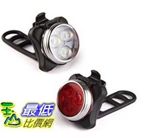 [美國直購] LED Bicycle Light- Ascher Super Bright Rechargeable Front and Rear Bike Light Set, LED自行車燈套件