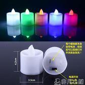 電子蠟燭浪漫LED蠟燭燈生日求婚錶白蠟燭創意心形聖誕節佈置蠟燭      非凡小鋪