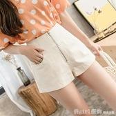 白色高腰闊腿短褲女夏季2020新款大碼寬鬆a字褲休閒百搭工裝熱褲 開春特惠
