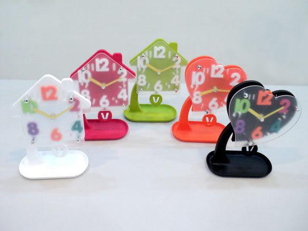 ✔糖果 繽紛多色 立體 收納 數字 座鐘/時鐘/可愛/造型/HOUSE/LOVE/愛心/鐘擺/鬧鐘