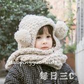 女童帽秋冬新款男女童寶寶可愛球球帽子圍巾一體護耳造型帽 zm9636【每日三C】