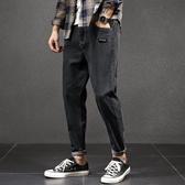 男士秋季牛仔褲新款韓版潮流休閒寬鬆秋冬款直筒長褲加絨褲子  極有家