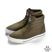 TRAVEL FOX(男)  Classic 900 Hi 高筒帆布休閒鞋-橄欖