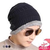 【台灣現貨】韓版毛線帽 加厚針織帽 男款帽子 秋冬天套頭帽 包頭帽【IB210】99750走走去旅行