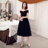 长袖小禮服洋裝 宴會小禮服女新款生日派對聚會黑色洋裝優雅氣質洋裝顯瘦 ZJ5163【大尺碼女王】
