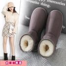雪靴女 雪地棉靴女短筒冬季2020年新款韓版學生百搭加絨加厚保暖面包棉鞋 源治良品