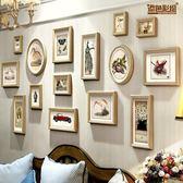 添色彩繪 美式客廳照片墻組合 掛墻相框相片墻餐廳 創意結婚禮物 igo  CY潮流站