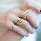 ►葉片三件套金屬關節戒指 韓版首飾品指環【B2088】