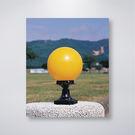 戶外防水門柱燈 8吋PE球 黃、白兩色 可搭配LED