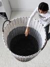 收納筐 臟衣服收納筐塑料編織臟衣籃子簍子框家用裝放衣物的換洗衣桶神器 宜品