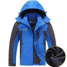【140公斤加大碼】單層加絨户外登山衝鋒衣/外套 6色 6XL-8XL碼【CP16026-1】