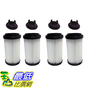 [106美國直購] 4 Filters for Kenmore Vacuums; Comes with Removable Endcap to convert to either DCF-1 or DCF-2