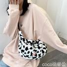 熱賣毛絨包 韓國日系原宿少女可愛奶牛毛絨小包包學生斜背包軟妹側背包女 coco