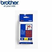 BROTHER 絲質緞帶標籤帶 12mm 酒紅底金字 TZe-RW34