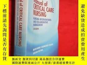 二手書博民逛書店Manual罕見of Critical Care Nursing