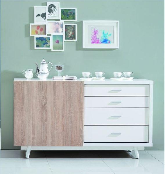 【南洋風休閒傢俱】組合櫃系列 -小北歐4尺餐櫃 櫥櫃 碗碟櫃 收納櫃 JX217-1