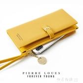 2019新款夏季女士長款韓版純色簡約學生時尚手拿包大容量手腕錢包