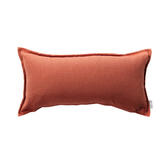 HOLA 新素色織紋抱枕30x60cm 橘紅色