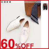 牛津鞋 尖頭低跟鞋 綁帶鞋 日本品牌【coen】