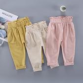 女童休閒褲子春裝2020新款寶寶哈倫褲兒童垮褲小童潮長褲1-2-3歲4