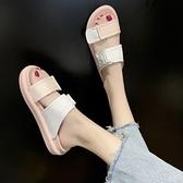 涼拖鞋夏季運動百搭女女士厚底外穿時尚