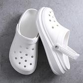 拖鞋2021韓版洞洞鞋兩用包頭休閑拖鞋防滑學生可愛涼鞋透氣沙灘鞋『潮流世家』