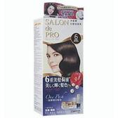 日本dariya沙龍級ONE PUSH女士用白髮染髮乳(#6黑褐棕)*3
