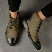 馬丁靴男鞋高筒靴英倫休閒中筒短靴圓頭復古棉靴刷毛加絨【英賽德3C數碼館】