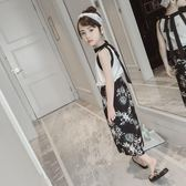 跨年趴踢購童裝夏季女童套裝2018新款中大童衣服韓版時尚雪紡兒童兩件套潮