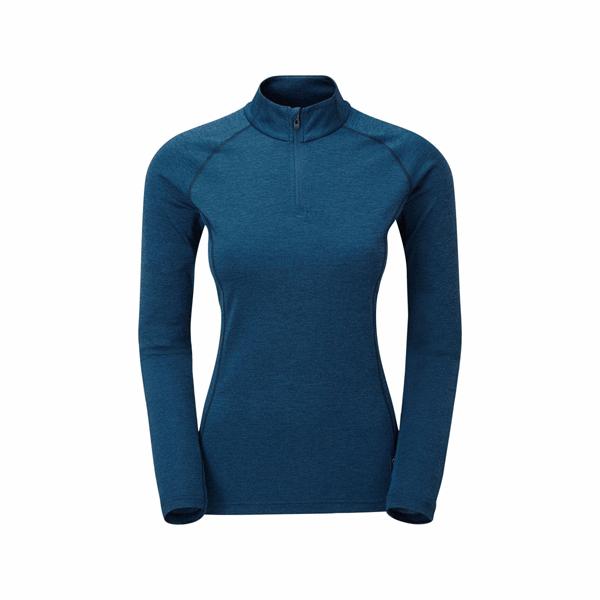 [MONTANE] (女) Dart Zip-Neck 飛鏢高領拉鍊UV快乾長袖衫 (三色內選) (FDAZN)