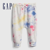 Gap嬰兒 Logo紮染抽繩裝飾長褲 681777-彩色紮染