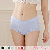 台灣製涼感內褲 透氣網眼布 中低腰包臀內褲6706-Pink Lady