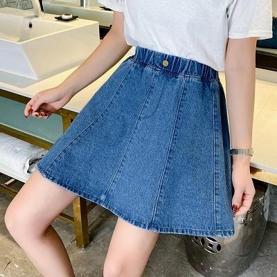 S-5XL牛仔半身裙~牛仔裙短裙女夏季新款高腰a字裙時尚200斤大碼女裝58981F039日韓屋