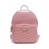 Petite Jolie  V字壓紋背帶果凍雙肩包-粉紅色