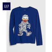 Gap x Disney男童  迪士尼系列長袖圓領T恤 497414-清幽藍