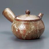 日本陶壺【信樂燒】窯変 橫手急須0.38L 泡茶壺