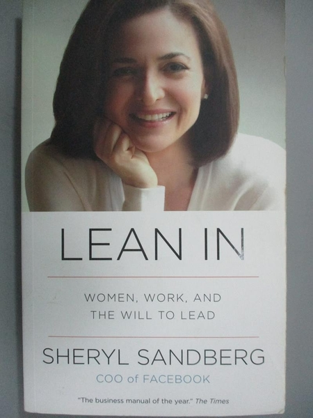 【書寶二手書T7/財經企管_HHW】Lean in-Women, Work, and the Will to Lead_