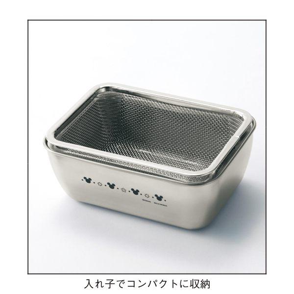 日本製迪士尼米奇不銹鋼瀝水調裡鋼盆041477通販屋