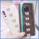 三星 S20 A71 A51 Note10+ S10+ A80 A50 A30S A70 A9 A20 Note9 S20 S9+ J8 直條蝴蝶結 手機殼 水鑽殼 訂製