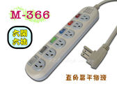 【GL303】M-366 15尺(4.5m)高容量轉接電源線組(免運)3孔插座延長線 6開6插~台灣製造★EZGO商城★
