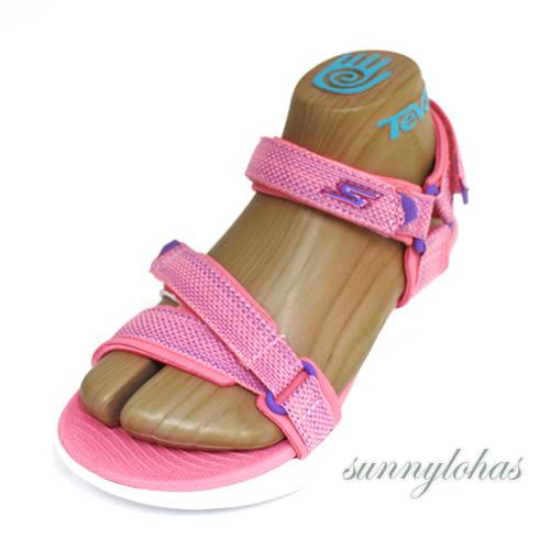 6折 SKECHERS (童) ON-THE-GO 600 涼鞋 魔鬼氈 耐走-86965LCRL 粉紫 [陽光樂活]