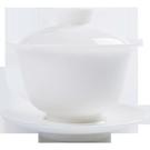 白瓷手工陶瓷蓋碗