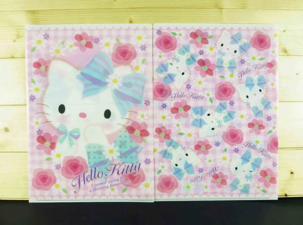 【震撼精品百貨】Hello Kitty 凱蒂貓~2入文件夾~粉玫瑰格子