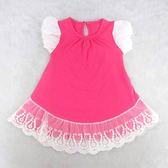 ★ 大亨★【 專區】13503 粉色蕾絲短袖長版T 顏色:粉色