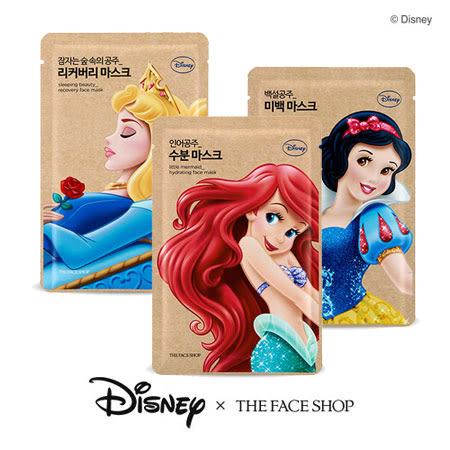 韓國 THE FACE SHOP 迪士尼聯名 公主面膜 25g 迪士尼公主 面膜 小美人魚 保濕 亮白 修護