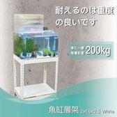 【探索生活】免運 白色二尺魚缸架60x45x75公分 二層架 附18mm白皮木心板 免螺絲角鋼 魚缸底櫃