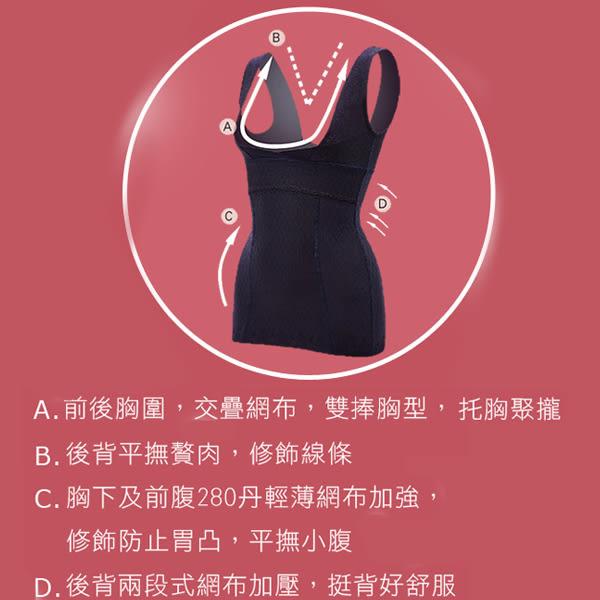 思薇爾-舒曼曲線系列M-XL修飾型半身束衣(紫鐵黑)