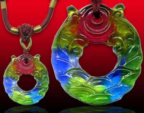 鹿港窯~居家開運水晶琉璃項鍊~旭日東昇 附精美包裝◆免運費送到家